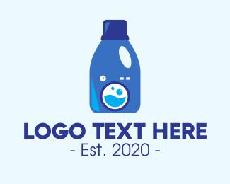 Lotion - Laundry Liquid Detergent logo design