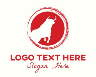 Bull Fight - Bull Circle logo design