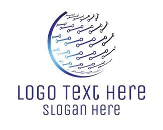 Universal - Global Technology Company logo design