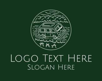 Road Trip - Vintage Road Trip Van logo design