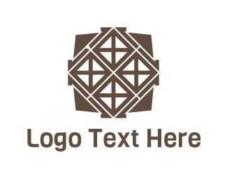 Tile - Brown Tiles logo design
