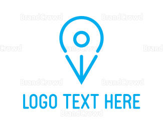 Map - Blue Bird Pin logo design