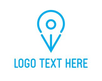 Place - Blue Bird Pin logo design