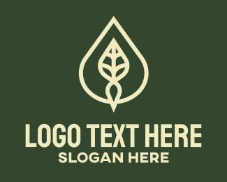 Beauty - Minimalist Leaf Drop logo design