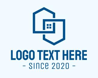 Contractor - Blue Realty Contractor logo design