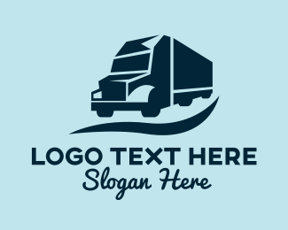 Shipping Company - Cargo Truck Transport logo design