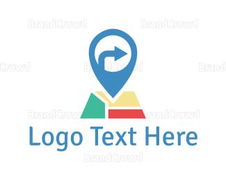 Direction - Map Pin logo design