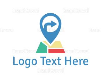 Right - Map Pin logo design