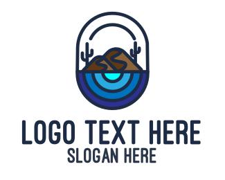Sahara - Minimal Desert logo design