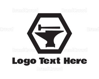 Carpenter - Anvil & Hammer logo design