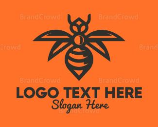 Venom - Gold Wasp Outline logo design