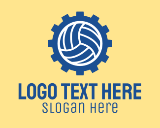 Volleyball Equipment - Volleyball Sports Gear  logo design