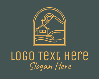 Holy Place - Mountain Valley Church Chapel logo design