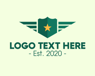 Militia - Armed Forces Shield logo design