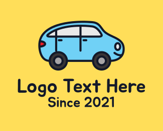 Sedan - Blue Car Toy logo design
