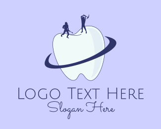Dental - Dental Tooth Construction  logo design