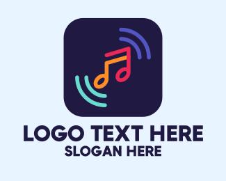Dj Bar - Music Streaming App logo design