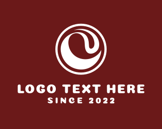 Brown Wave - White Wave logo design