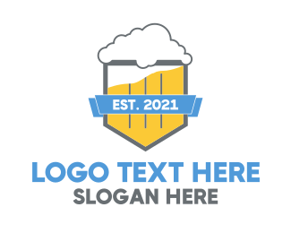 Brew - Beer Shield logo design
