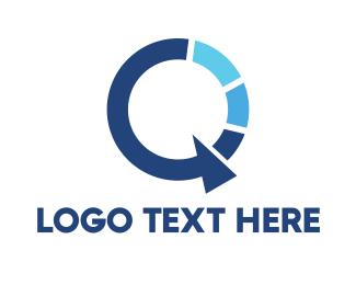 Alphabet - Abstract Letter Q logo design