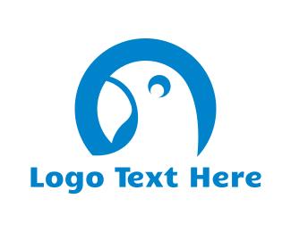 Parrot - Blue Round Parrot logo design