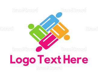 Hire - Colorful Team logo design