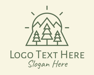Hunting - Tree Forest Woods logo design