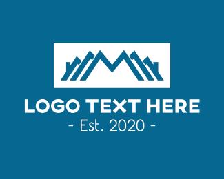 Neighbor - Real Estate Subdivision Letter M logo design