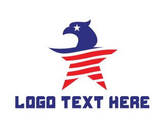American Eagle - USA Eagle Star logo design
