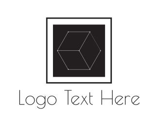 Square - Wire Cube logo design