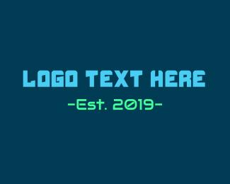 Information Technology - Gaming & Technology Text Font logo design