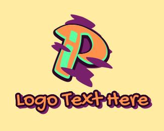 Beatbox - Graffiti Art Letter P logo design