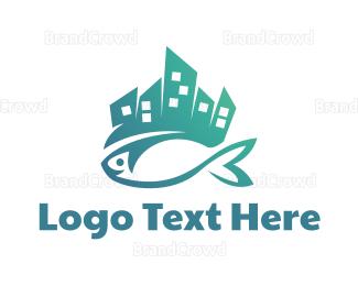 Tuna - Seafood City logo design