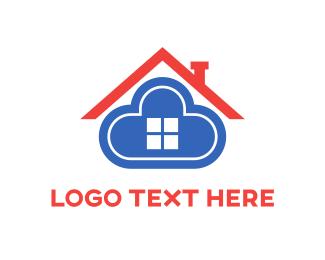 Broker - Cloud Home logo design