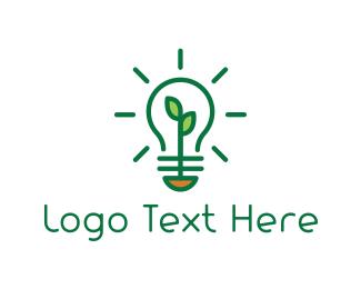 Bulb - Green Bulb logo design