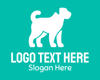 Pet - Pet Dog Silhouette logo design