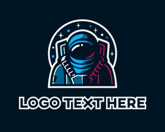 Galaxy - Astronaut Gaming logo design