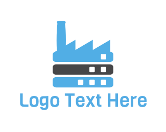 Warehouse - Blue Factory logo design