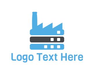 Warehouse - Blue Factory logo design