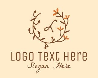 Potpourri - Vintage Autumn Flower Branch logo design