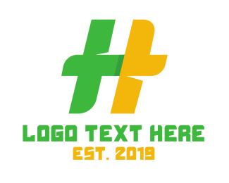 Hospitality - Green Yellow H logo design