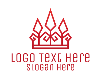Legal Services - Red Geometric Crown logo design