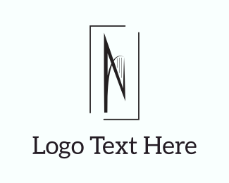 Printing - Abstract Letter N logo design