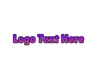 Manicure - Purple Gradient Wordmark logo design