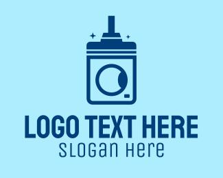 Machine - Clean Washing Machine logo design