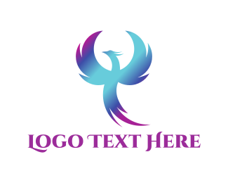 Phoenix - Blue Phoenix logo design