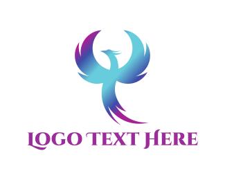 Dragon - Blue Phoenix logo design