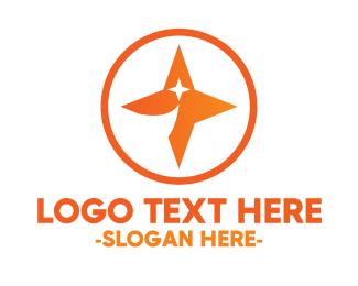 """Orange Shooting Star Badge"" by MDS"