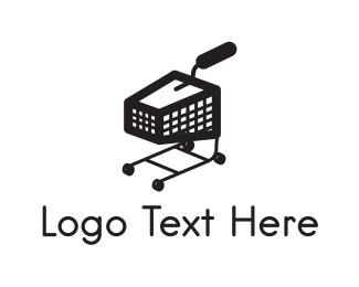 Grocery Store - Black Trolley logo design