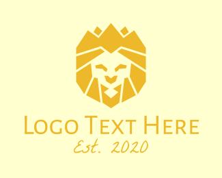 Lion - Golden Wild Lion logo design